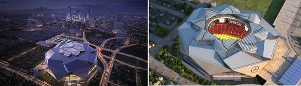 سازه متحرک مرکزی چرخنده ، استادیوم بنز در آتلانتا